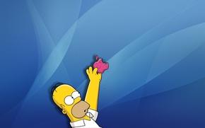 Обои симпсоны, Гомер, Яблоко, Apple