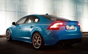 Картинка Concept, Volvo, Машина, Концепт, Машины, Голубой, Вольво, Car, Автомобиль, Cars, Blue, Автомобили, S60, Polestar Performance