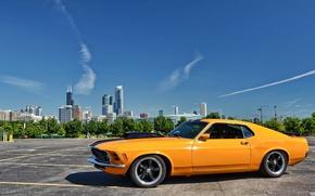 Картинка Mustang, Ford, Форд, Мустанг, классика, 1970, Muscle car