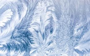 Картинка иней, мороз, узор, стекло, зима