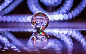 Картинка блики, отражение, шар