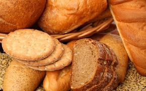 Обои тмин, хлеб, зерно, выпечка, печенье, ломти