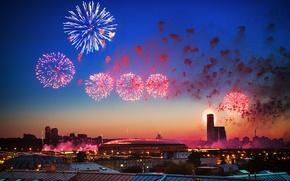Картинка салют, Москва, Россия, Russia, 9 мая, День победы, Victory Day, Moskow, 9 may, стадион Лужники
