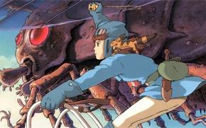 Картинка Nausicca, Nausicaa of the Valley of the Wind, Навсикая из долины ветров, Miyazaki, Studio Ghibli