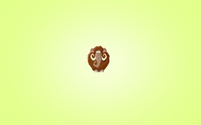 Обои минимализм, шерстяной, слон, мамонт, бивни, светлый фон