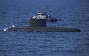 Картинка лодка, катер, подводная, дизельная, противодиверсионный