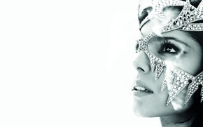 Картинка лицо, маска, певица, Cheryl Cole