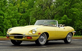 Картинка 1968, jaguar, e-type, ягуар, кабриолет