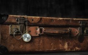 Картинка фон, часы, чемодан