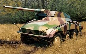 Картинка weapon, war, art, tank, ww2, SdKfz 234, paitning, Schwerer Panzerspähwagen