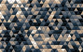 Картинка мозаика, фон, абстракции, обои, текстура, объем, разноцветный, Треугольники