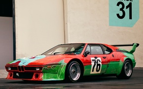 Картинка supercar, Group 4 Rennversion Art Andy, Warhol E26 classic, 1979 BMW M 1