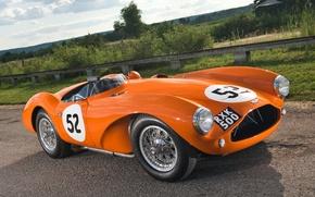 Картинка оранжевый, Aston Martin, 1953, классика, передок, Астон Мартин, красивая машина, DB3S