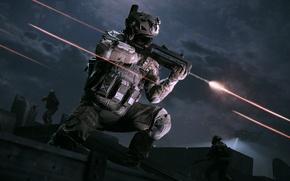 Картинка ночь, оружие, люди, игра, стрельба, Warface, Охота, Выживание