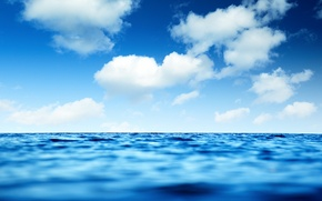Картинка море, волны, небо, вода, облака, пейзаж, природа, река