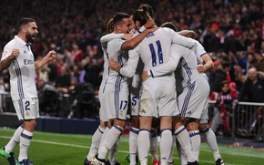 Картинка футбол, победа, спорт, команда, team, празднование, Реал Мадрид, footbal, Real Madrid CF, Реал Мадрид-Атлетико