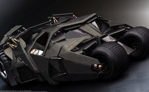 Картинка бэтмен, бэтмобиль, боевой автомобиль, Бэтмен начало
