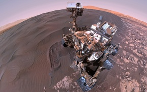 Картинка марсоход, Марс, Кьюриосити, Curiosity, поверхностность