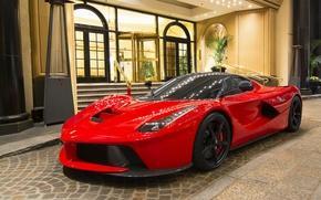 Картинка красный, Ferrari, sportscar, Ferrari LaFerrari