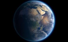 Обои космос, земля, планет
