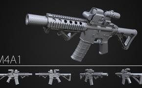 Картинка design, assault rifle, M3a1