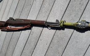 Картинка оружие, 1940, Springfield, M1 Гаранд, винтовка Гранатомет M7
