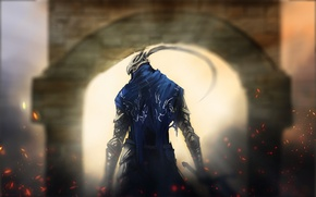 Картинка рыцарь, врата, art, dark souls