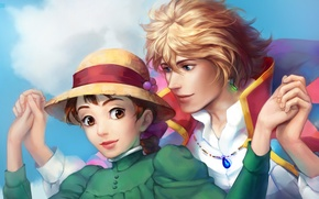 Обои howl's moving castle, howl, sophie