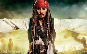 Обои пистолеты, пираты, джони депп, карибского моря
