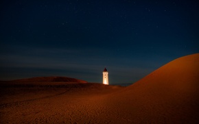 Картинка nature, moonlight, Rubjerg