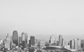 Картинка skyline, black and white, buildings, architecture, skyscrapers, structure, b/w, concrete, offices