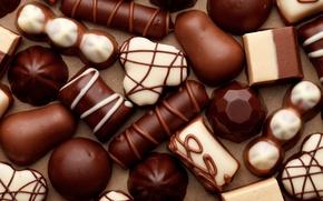 Обои белый, шоколад, конфеты, сладости, chocolate, candy, молочный