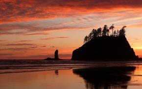 Картинка море, пляж, закат, красота, beach, sea, sunset, beautiful