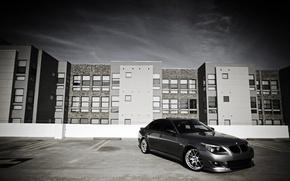 Картинка City, cars, auto, Bmw, wallpapers auto, Parking, обои бмв, 530i, bmw e60