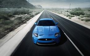Обои дорога, машина, авто, пейзаж, горы, природа, разметка, обои, тачка, ягуар, wallpaper, cars, jaguar, большой размер, ...