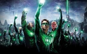 Обои зелёный фонарь, green lantern, ryan reynolds, фантастика, кино, супергерой