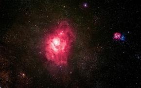 Картинка облако, гигантское, в созвездии, Стрельца, Туманность Лагуна, межзвёздное, и область H II