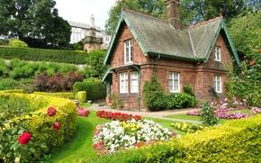 Картинка город, дом, стиль, сад, архитектура