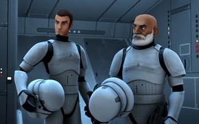 Картинка мультсериал, Звездные войны: Повстанцы, Star Wars: Rebels, Кэйнан и Рекс