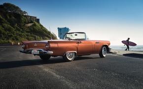 Картинка T-Bird, тандерберд, дорога, Supercharged, Thunderbird, 1957, форд, Special, классика, Ford