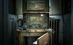 Картинка Decay, Abandoned, Army entertainment receiver, Reception Set