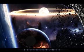 Картинка space, stars, planets, solar, feuersbrunst