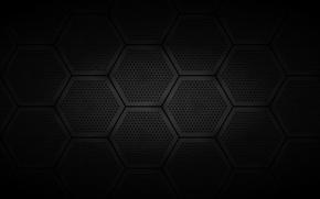 Картинка темный, решетка, шестигранники