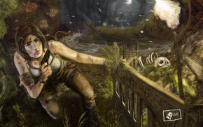 Картинка девушка, лара крофт, lara, Tomb Raider 2012