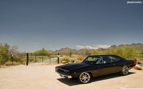 Обои 1968 год, додж, charger, muscle сar, культовый автомобиль, чарджер, dodge