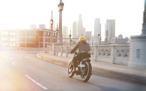 Картинка city, yamaha, motorcycle, sr500