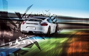 Обои Porsche, Cayman, порше, TechArt, 2015, кайман