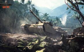 Картинка джунгли, арт, танк, Великобритания, танки, world of tanks, wot, tank