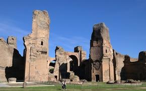 Картинка Рим, Италия, руины, археология, термы Каракаллы, термы Антониниана