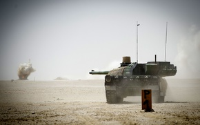 Обои танк, боевой, французский, основной, Leclerc, AMX-56, (ОБТ)